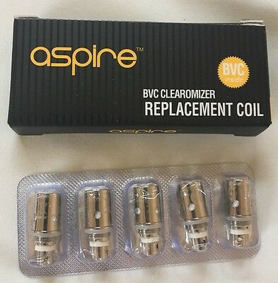 Aspire BVC-BDC  Replacement Coils x5.