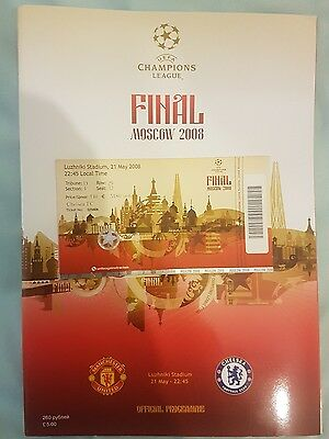 2008 champions league final Ticket and Programme Man Utd Chelsea