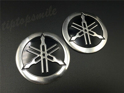 Tuning Fork Tank Faring Decal Emblem For YAMAHA Motorcycles Badge Stickers 55mm