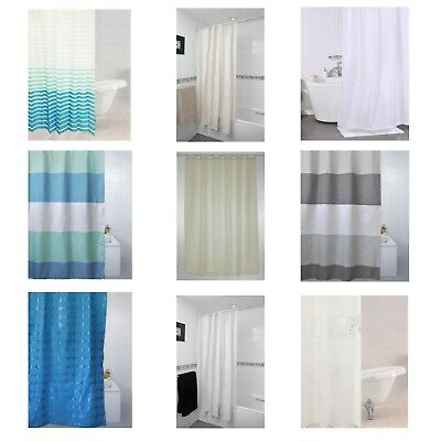 Sabichi Shower Curtains 180cm x 180cm Value Range 100% PEVA includes 12 Hooks
