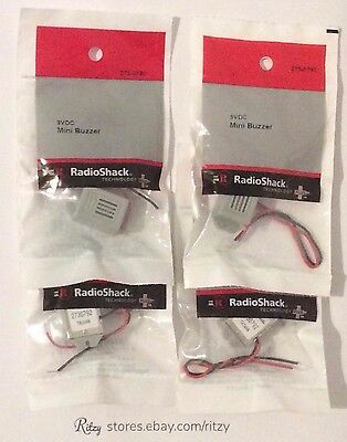 Lot of (5) - RadioShack 3VDC (2-4V) Mini Buzzer (75db) 273-0792 - FREE Shipping