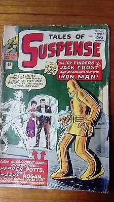 TALES OF SUSPENSE #45 MARVEL IRON MAN Sept 1963 Pepper Potts first appearance
