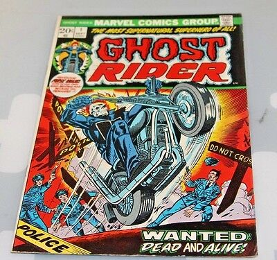 Marvel Comics GHOST RIDER #1 Sept 1973 First Issue Collectors Key Issue