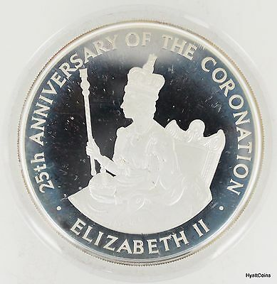1978 Jamaica Proof $25 4 oz Silver 25th Anniversary of the Coronation