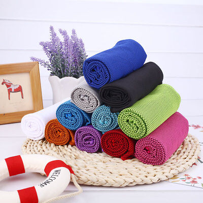 Instant Cooling Ice Cold Towel Sports Evaporative Sweat Absorb Cycling Yoga