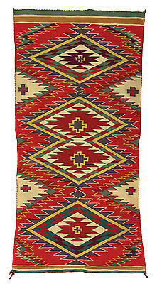 "c. 1890 Navajo Germantown Runner, 42.5"" x 20"""