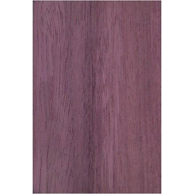 "Exotic Purpleheart Wood Veneer Raw/Unbacked - 3 sq. ft (5.5"" - 7.5"" x 12"")"