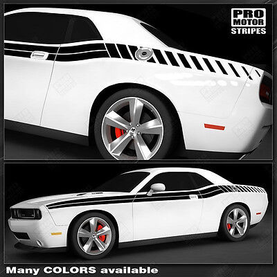 Dodge Challenger Double Stripes with Strobe Side Decals 2015 2016 2017 Pro Motor