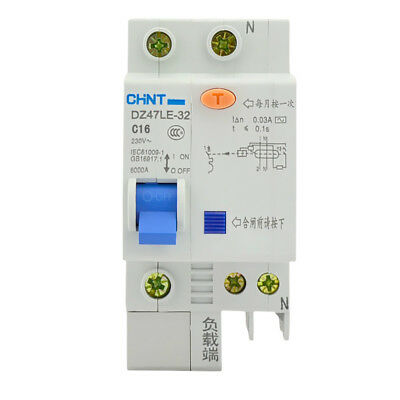 DZ47LE Single Pole Miniature ELCB Earth Leakage Circuit Breaker 16A