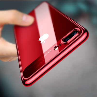 Luxury Slim Hybrid Hard Clear Back Case Shockproof Cover for iPhone X 6 7 8 Plus