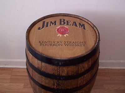 Jim Beam Kentucky Straight Bourbon Whiskey Barrel-Sanded-Finished-FREE SHIPPING