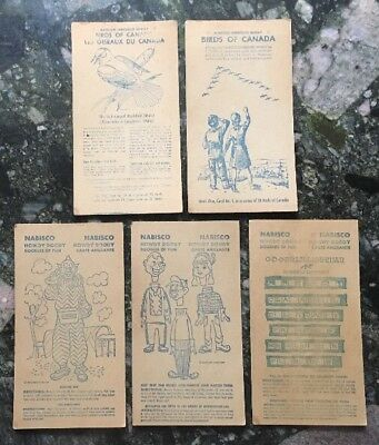 Lot of 5 - Vintage Nabisco Shredded Wheat Cards - Howdy Doody, Birds of Canada