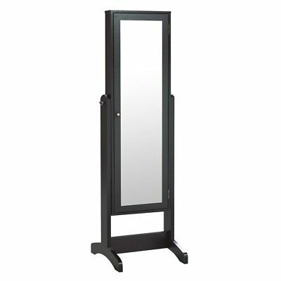 Candace & Basil Allegra Jewelry Cabinet with Mirror, Dark Cherry