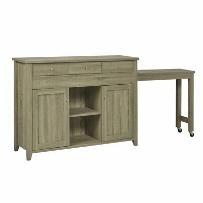 Candace & Basil Buffet / Server with Side Extension, Dark Taupe