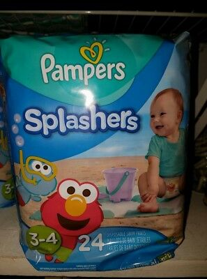 24 pack of Pampers Splashers size 3-4 swim diapers