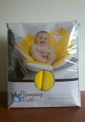 Blooming Bath Plush Baby Bath Canary Yellow BRAND NEW IN PACKAGE for babies