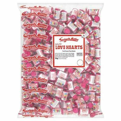 Swizzels Mini Love Hearts Mini Rolls Sweets 3kg Bag Approx 280 Rolls