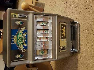 """Vintage Casino Crown Slot Machine Made in Japan By Waco 16"""" x 10""""  Tested Works"""