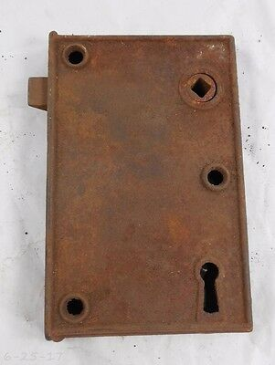 Large Antique Cast Iron Rim Lock