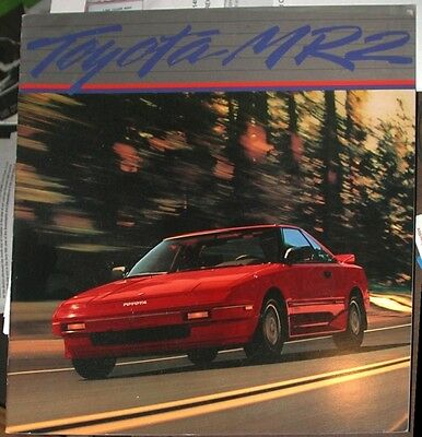 Toyota MR2 Large Brochure 1985 MK1 AW11