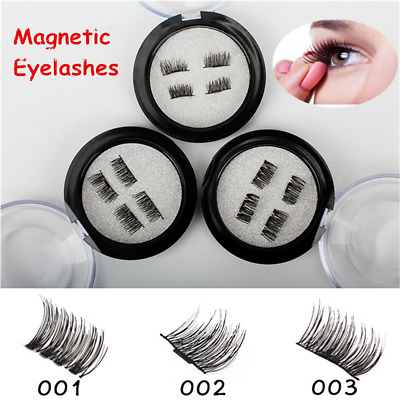 4 Pcs 3D Magnetic False Eyelashes Natural Makeup Eye Lashes Extension Reusable
