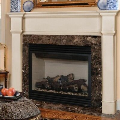 Wood Fireplace Mantel Home Living Room White Modern Décor Shelf Surround Mantle