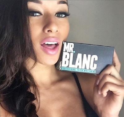 Mr Blanc Teeth Whitening Strips Professional 2 Week Supply contains 14 Pouches