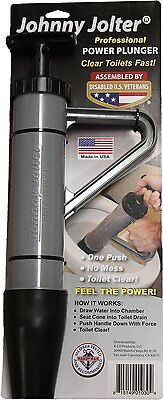 New Johnny Jolter Jjr-304 Usa Made Power Toilet Plunger One Push No Mess Sale