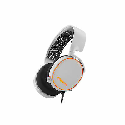 SteelSeries Arctis 5 White Headset with Speaker Drivers Game Earphone Headsets