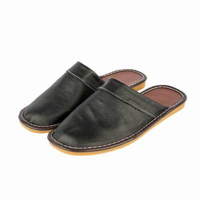 New Arrival Cow Leather Slippers for Men Soft Sole Slides Home Floor Sandals