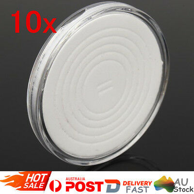 10X Coin Display Case Clear Round Plastic Storage Capsules Holder w/ EVA Pad AU