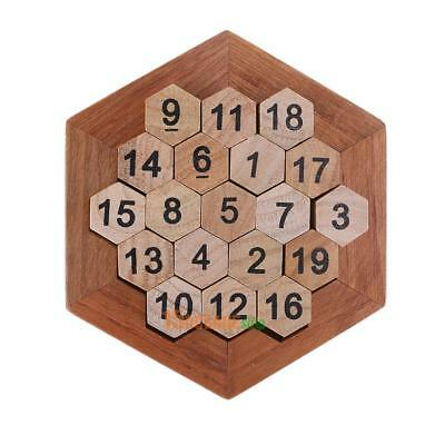 Children Kid Wooden Number Board Math Game Early Educational Plate Learning Toy