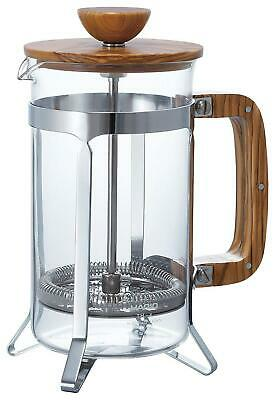 Hario Olive Wood Cafe Press Coffee Maker - 600mL Transparent Free Shipping!