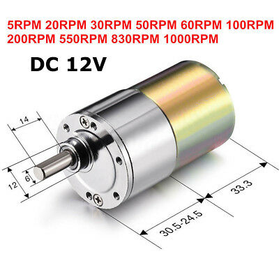 DC 12V Micro Electric Motor Gear Box Speed Reduction Gearbox Centric Output Shaf