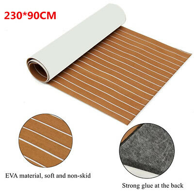 2 X Self Adhesive Marine Flooring Teak EVA Foam Boat Decking Sheets 230*90CM OZ