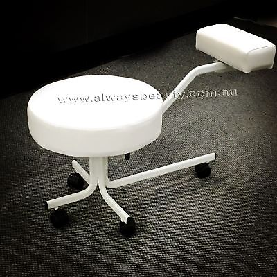 Pedicure Stool Chair Thick Wide Seat Comfort Seat Pedi Stool Black or White