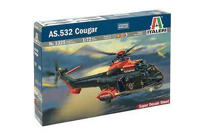 Italeri 1325 1/72 Scale Model Helicopter Kit Eurocopter AS532 Cougar/Super Puma