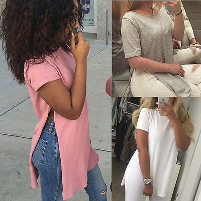 US Fashion Women Summer Loose Top Short Sleeve Blouse Ladies Casual Tops T-Shirt