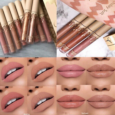 New Women's 4Pcs Waterproof Lip Liquid Long Lasting Lip Gloss Lipstick Set Kit