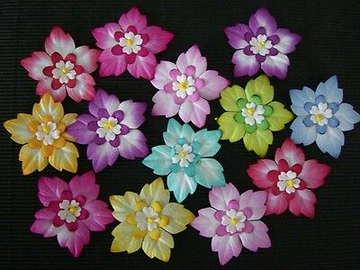 20 x 40mm Mulberry Paper FLOWERS MPFF31 Paper Craft Embellishment Scrapbook Card