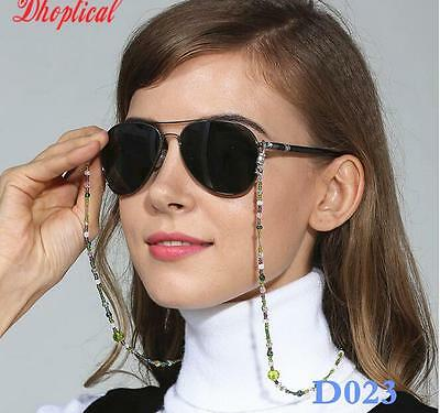 glass Beaded Eyeglass Eyewears Sunglasses Reading Glasses Chain Cord Holder neck