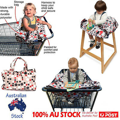 Baby Kid Toddler Shopping Trolley Liners Seat Protector High Chair Cover Pad New