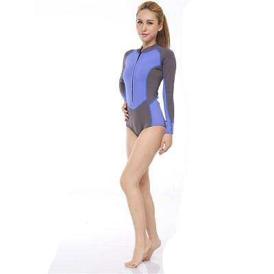 Women Long Sleeve Wetsuit Surfing Kayak Scuba Diving Swimsuit Beach Bathing Suit