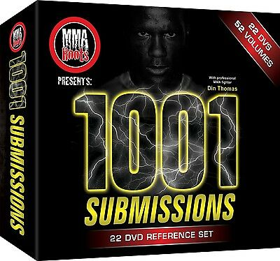 1001 Submissions 22 DVD Set - BJJ Grappling - Din Thomas