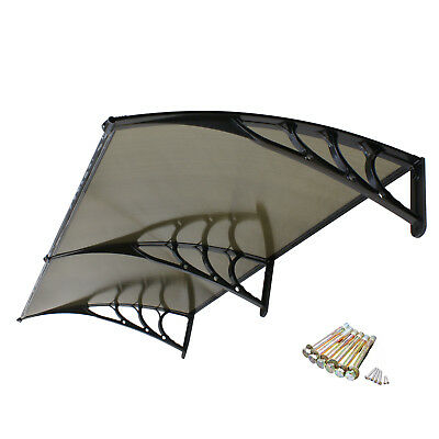80''x 40'' Window Awning Outdoor Polycarbonate Cover Canopy Front Door Patio