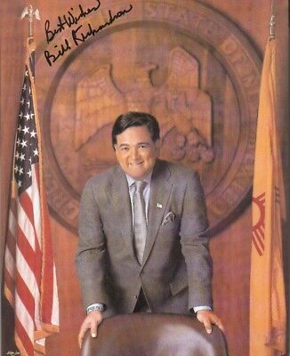 Bill Richardson Autographed 8x10 Photo 30th Governor of New Mexico  2003 to 2011