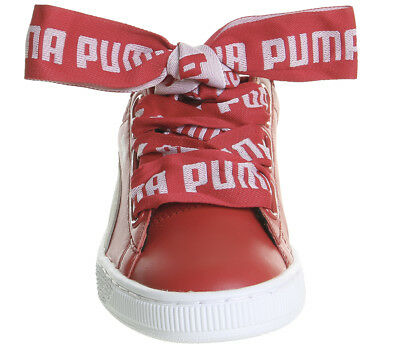 Womens Puma Basket Heart RED Trainers Shoes