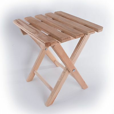 Bamboo Wooden Folding Stool / Picnic Fishing Camping Wood Seat / Foldable Legs