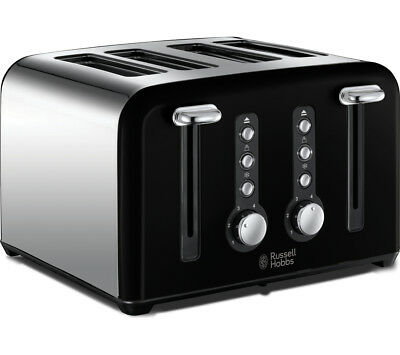 RUSSELL HOBBS Windsor 22832 4-Slice Toaster 1500 W Extra-wide slots  Black