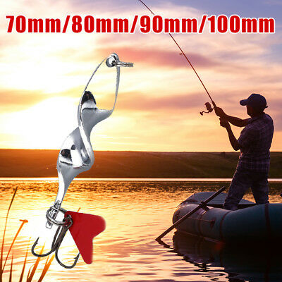 Fishing Spoon Casting Lure Metal Twisty Artificial Bait Tackle Treble Hook